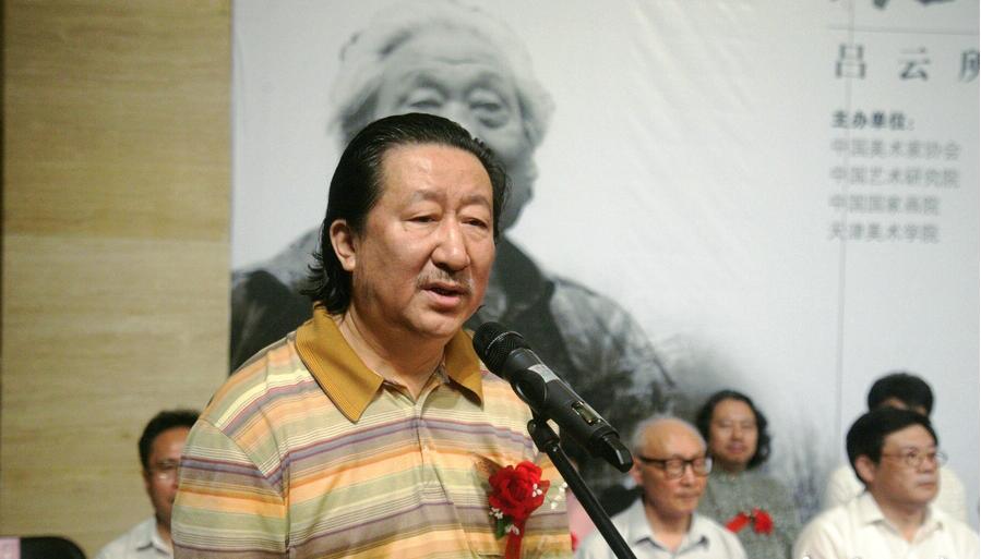 开幕式现场中国国家画院杨晓阳院长讲话