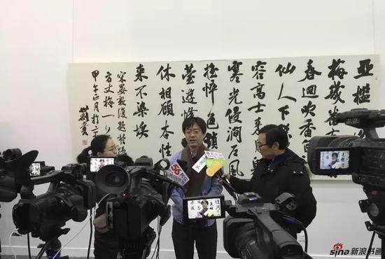 国务院参事室《中华书画家》杂志社副社长、中国书法家协会理事 张公者接受采访