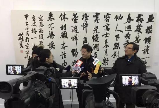 中国书法家协会顾问、辽宁省书法家协会名誉主席 聂成文先生接受媒体采访